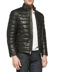 Andrew Marc Quilted Leather Jacket, Black &  Adamdwight.com