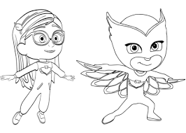 Small Picture Pajama Hero Amaya is Owlette from PJ Masks coloring page Free