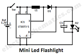 electronic circuits page gr mini led flashlight lt1073 ic