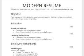 Resume Modern Temp Google Resume Temp Examples And Professional Printable Templates