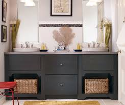 Dark bathroom vanity Double Sink Dark Gray Bathroom Vanity By Kemper Cabinetry Kemper Cabinets Dark Gray Bathroom Vanity Kemper Cabinetry