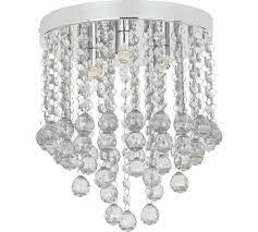 flush ceiling light clear at argos co