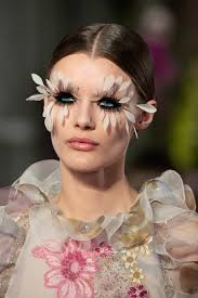 pat mcgrath feather lashes makeup looks for the valentino couture spring 2019 show in paris estrella fashion report