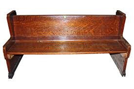 antique double sided tiger oak church pew