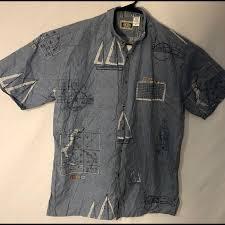 Poshmark Tracking G P S Global Tracking Shirt Men Sz Medium Blue