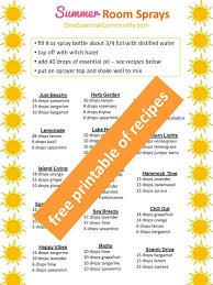 summer essential oil room spray recipes