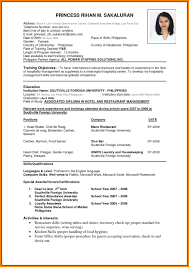 Resume Air Hostess Resume Format For Air Hostess Resume Format Example