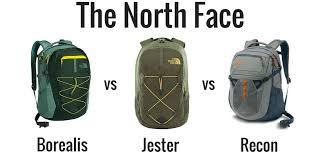 The North Face Recon Vs Borealis Vs Jester Backpack