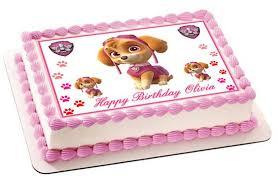 Paw Patrol Skye Nr2 Edible Birthday Cake Or Cupcake Topper