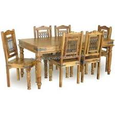 image is loading jali large dining table and 6 chairs solid