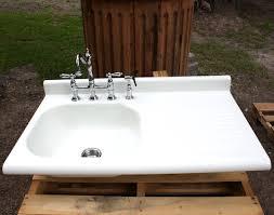 White Enamel Kitchen Sinks Unclog A Kitchen Sink With Drainboard