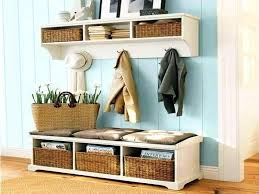 Hall Storage Bench And Coat Rack Entryway Storage Bench With Coat Rack Image Of Entryway Storage 29