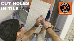how to drill a hole in ceramic or porcelain tile quick tips