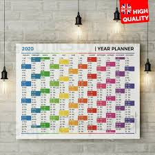 Multi Year Planner 2020 Multi Colour Year Wall Planner For Home Office Calendar A4 A3 A2 A1