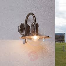 damion modern stainless steel outdoor wall lamp 9960017 01