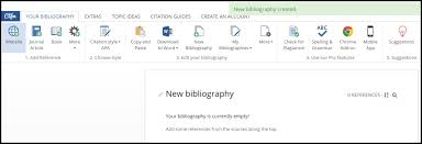 Cite For Me Step 3 Creating The Citation Or Bibliography How To Use The
