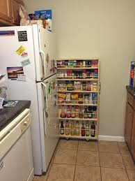 picture of fridge gap slide out pantry