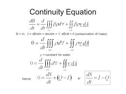 continuity equation b m b db dm dm dm