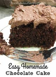 Easy Homemade Chocolate Cake With Buttercream Frosting Back To My