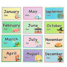 The asl flash cards make it handy to learn, review, and improve fluency with the sigh language. 12 Months Of The Year Flash Cards Kids Toddlers Preschool Learning Resource Educational Toys Toys Games