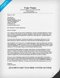 Elementary Teacher Cover Letter Sample Guide Resumecompanion For