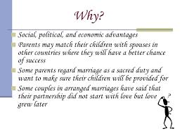 Advantages Arranged Marriages Essay