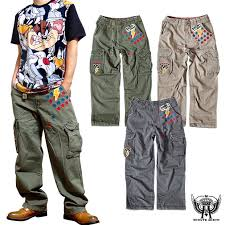 Character Pants The Size Damage Processing Embroidery Professional Wrestler Character Street Which Cargo Pant Wide Underwear Men Baggy Pants Cotton Underwear