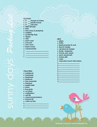 Packing List For Summer Vacation Packing List Printables Pinterest Packing List For Vacation