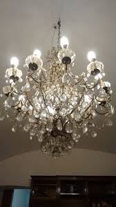 crystal chandelier with 12 arm and 12 lights 20th century