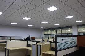 led ceiling light fixture in office