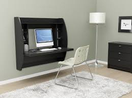 ... Mind Blowing Bedroom Design And Decoration With Wall Mounted Computer  Desk : Good Image Of Bedroom ...