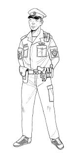 Small Picture Coloring Page Policeman Pages For Kids Printable Book Preschoolers