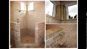 Open shower bathroom designs YouTube