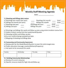 Staff Meeting Agenda Sample – Katieburns