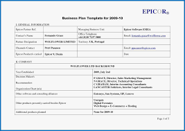 A Simple Business Plan Template Basic Business An Template Presentation Ppt Company Profile
