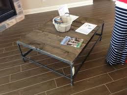 Industrial Angel Iron Coffee Table With Reclaimed Wood Top