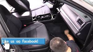 Toyota Camry - How to remove front seat / how to install plug and ...