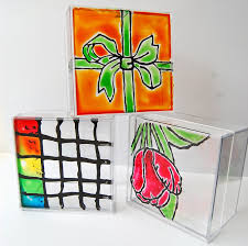 glass painting on ceramics porcelain or glazed pottery diy named room plaque tile