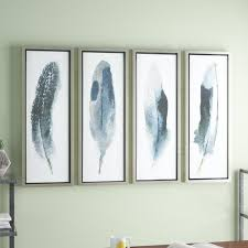 >feathered beauty prints 4 piece framed graphic art set reviews  feathered beauty prints 4 piece framed graphic art set