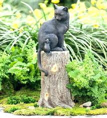 cat garden statue sculpture sculptureouse on stump lawn ornament outdoor statues australia cat garden statue classic sleeping statues outdoor black