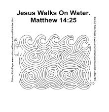 Jesus Walking On Water Coloring Page Op Water Walks On The Water