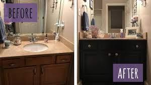 chalk painted bathroom vanity makeover