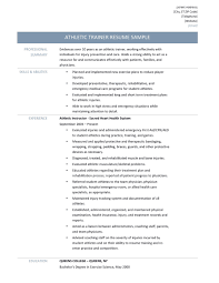 Athletic Trainer Resume Samples Tips And Templates Online Resume