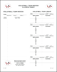 Tennis Roster Template