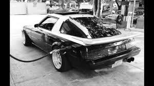 mazda rx7 1985 black. 1985 mazda rx7 1st gen stance miami rx7 black o