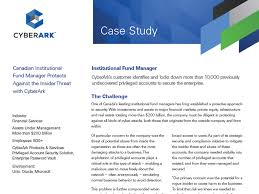 business case study examples essay example leadership case  resource type case study cyberark canadian institutional fund manager protects against the insider threat cyberark
