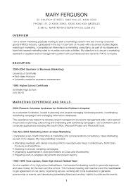 Model Resume Samples Simple Summary Examples Writing A Profile