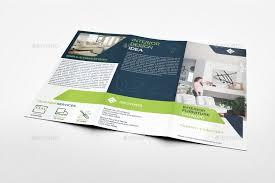 2 Folded Brochure Template Furniture Products Catalog Tri Fold Brochure Template Vol 2