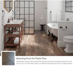 Wood and tile floor designs Fake Wood Achieve The Natural Look Of Wood Flooring With Grout That Matches Your Color Tile Hungonucom Bathroom Tile And Trends At Lowes