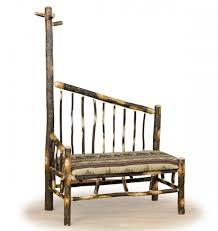 Cabin Coat Rack Log Bench with Coat Rack Rustic Bench Log Cabin Furniture 82